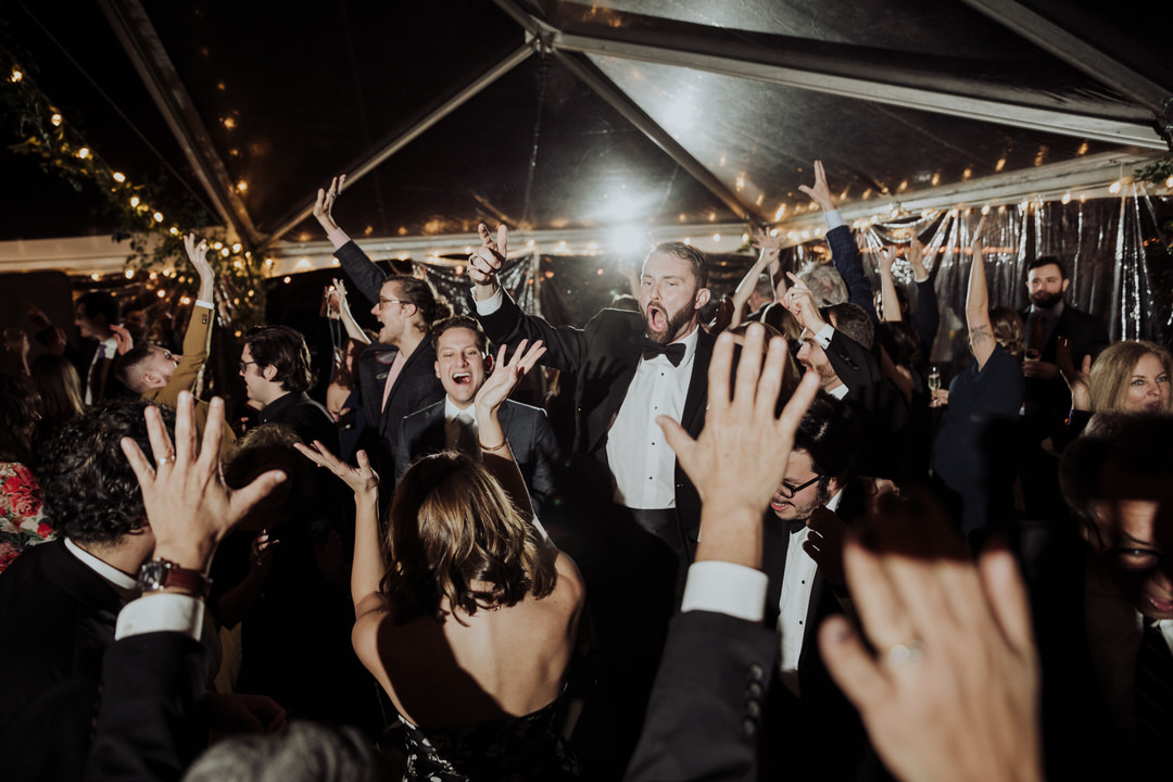 guests partying at reception