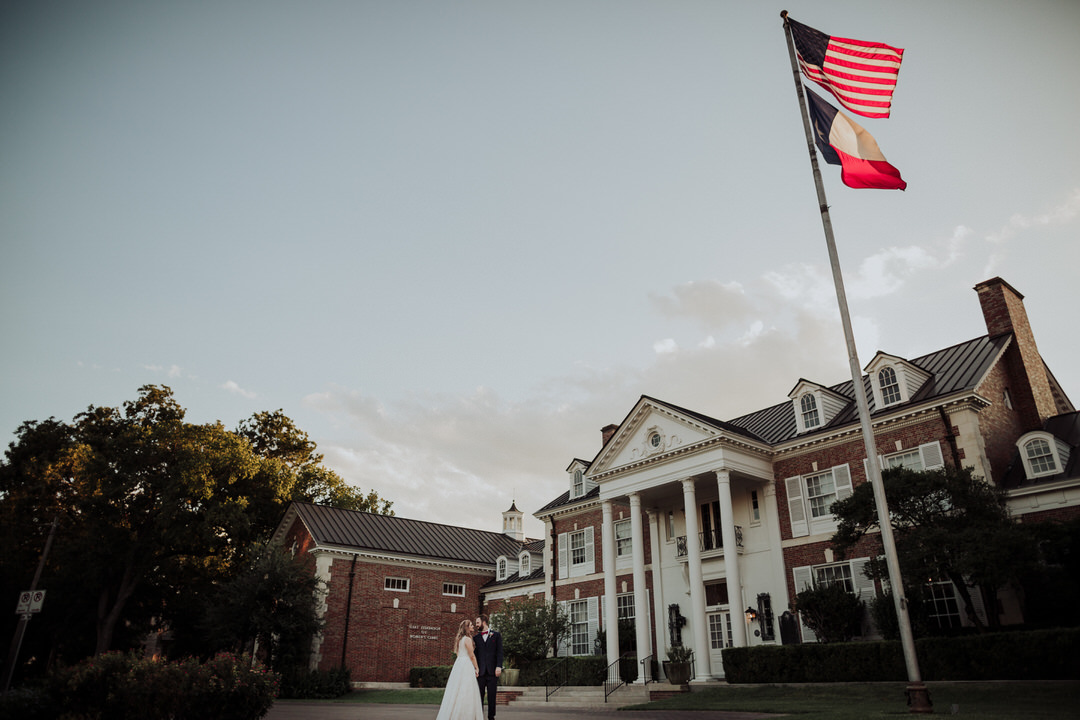 wide shot of texas federation of womens clubs mansion