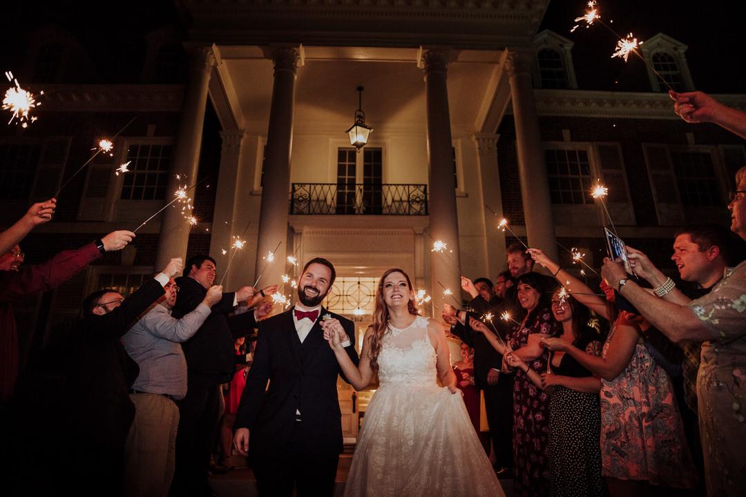 sparking exit after wedding