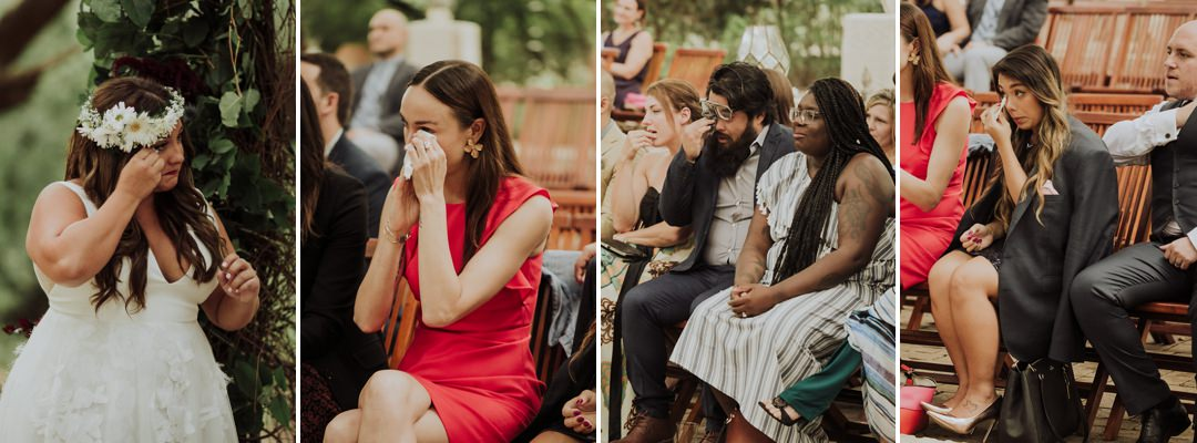 guests crying during the ceremony