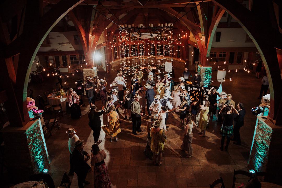 wide photo of dance floor