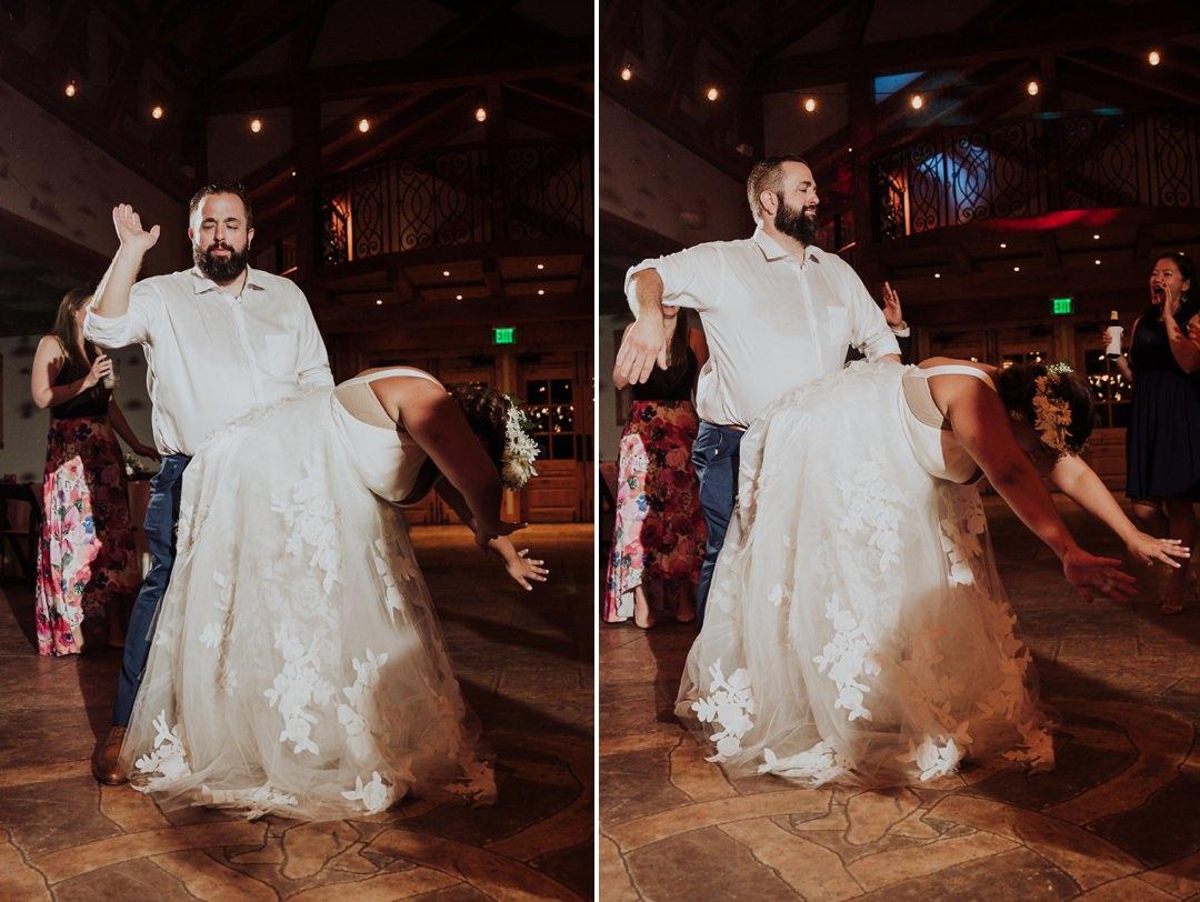 fun wedding dance floor
